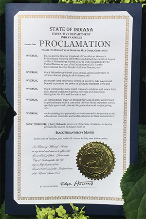 Picture of the proclamation outside in plants.